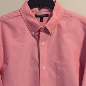 Banana Republic pink dress shirt L